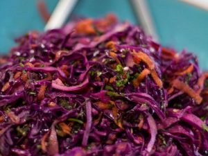 Asian coleslaw with ginger, chilli and coriander