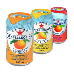 San Pellegrino canned drinks (330ml - orange, lemon or blood orange)