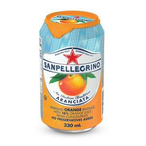 San Pellegrino sparkling orange (330ml can)