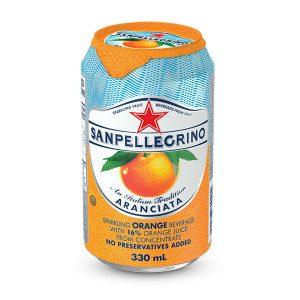San Pellegrino sparkling orange (330ml can)